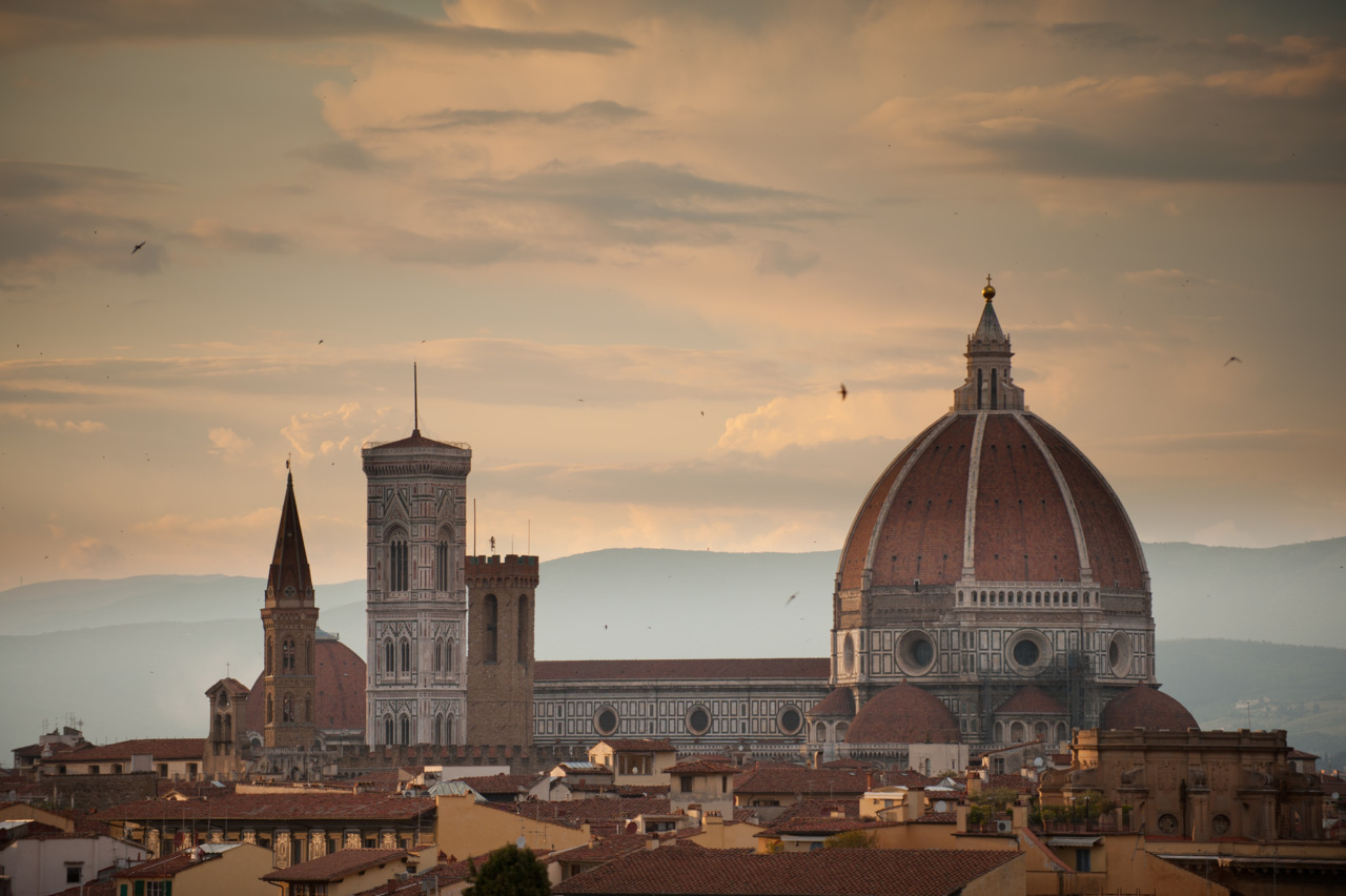 Florence at sunset on my trip a couple of weeks ago. Love it there.