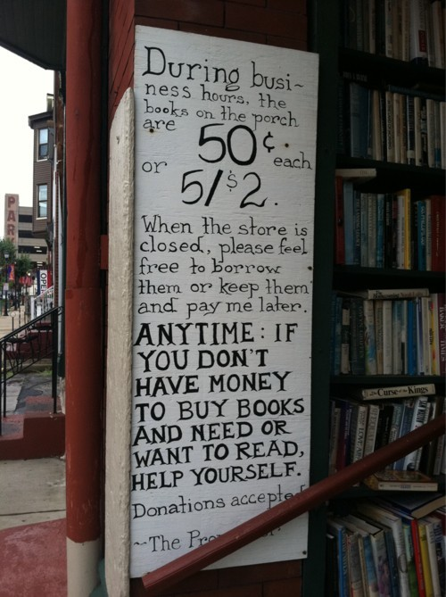 iheartclassics:  The world's most generous bookstore!