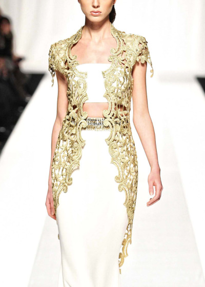 What Would Khaleesi Wear?Fausto Sarli the gold vest reminds me of the filigree belts and accessories of Qarth