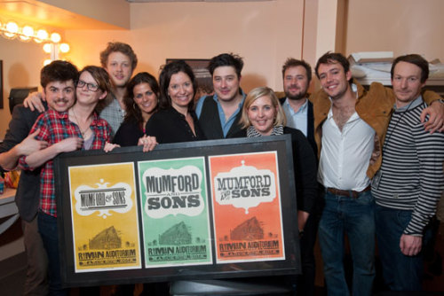 mumfordistheword:  Mumford & Sons backstage at the Ryman in March 2012