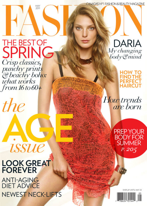 they.call.it.fashion - covers daria werbowy . fashion magazine  may 2011