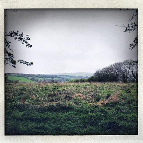 The view from Fred's place (Taken with Instagram at St. Cleer. Cornwall, UK)
