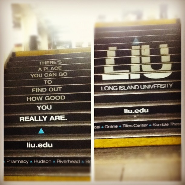 LIU stand up! #post #brooklyn #ad #pennstation #34thstreet #subway (Taken with instagram)