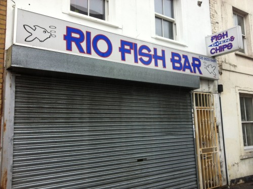 Hackney . Mare Street . Fish bar (for R.)