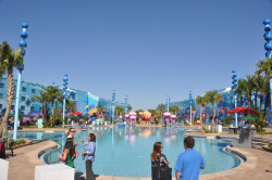 Disney's Animation Resort at Walt Disney World is scheduled to open May 31st of this year.  The resort is designed for families and will have the capacity to sleep up to six in the family suites.  Families will have the choice of four different themes: The Lion King family suites (opening August 10, 2012), Finding Nemo Family Suites (first to open in May), Cars family suites (June 18, 2012), and the Little Mermaid standard rooms (September 15, 2012). Below are photos from the Finding Nemo and Cars areas of the resort. For more photos please visit the following link!