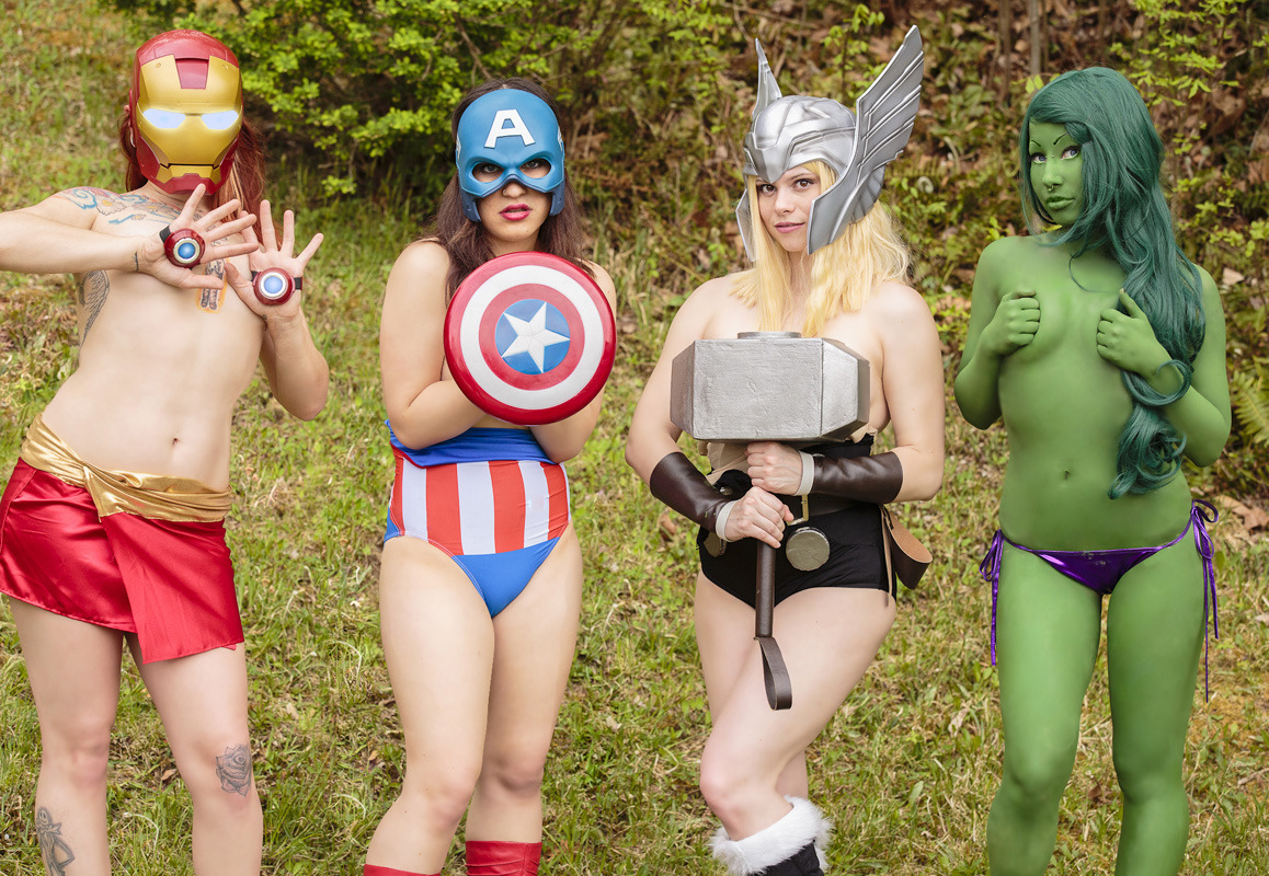 porphyriasuicide:  Avengers Teaser for Cosplay Deviants ;p. (One of the silliest fun shoots ever.)  Assemble!