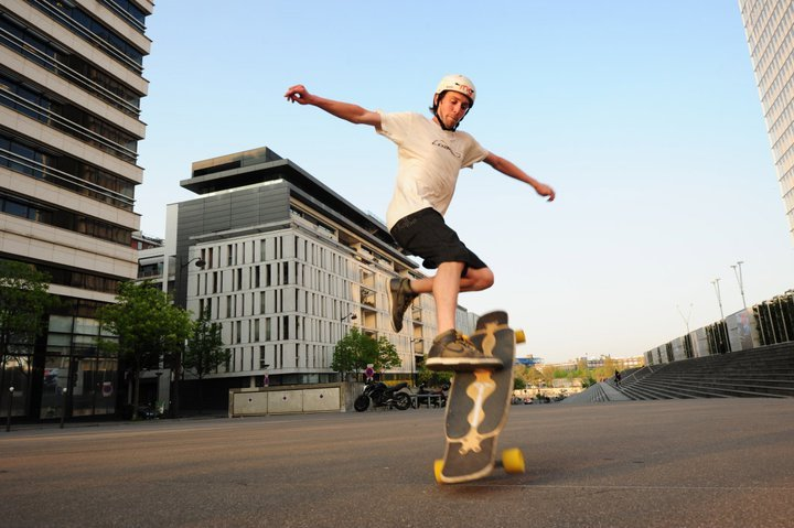 emgeemann:  Paris No Comply. Just popped up on my dash! Photo: Pierre-Yves Guyot. -MG