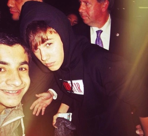 Justin with a fan (27 April)