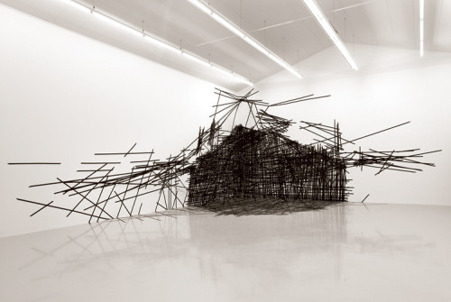 "myampgoesto11:  Monika Grzymala Spins ""3-D"" Drawings From 27,000 ft Of Tape"