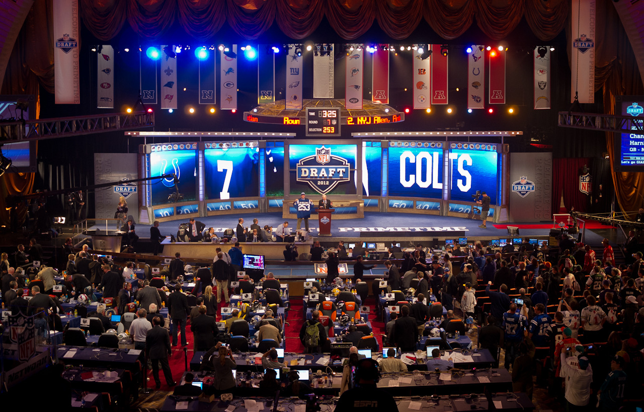 Mr. Irrelevant The Indianapolis Colts select quarterback Chandler Harnish from Northern Illinois, the 253rd and final pick of the 2012 NFL Draft at Radio City Music Hall.