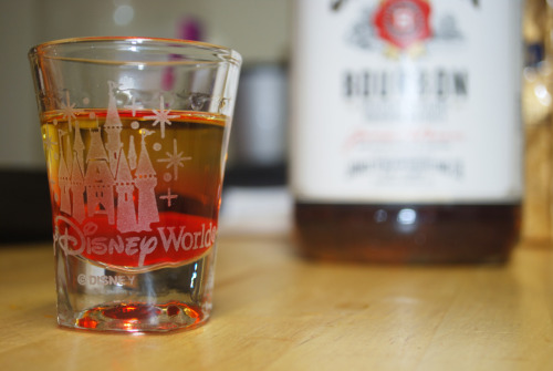 Gaston Shot Ingredients: 1.5 oz. Jim Beam .5 oz. Grenadine Directions: Pour Jim Beam into a shot glass. Add grenadine (it will sink to the bottom) ENJOY!