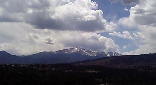 Clouds over Pikes Peak!