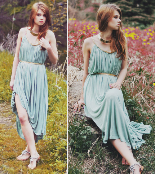 lookbookdotnu:  Flight Facilities - Crave You  (by Iga Wysocka)  Dat dress!!