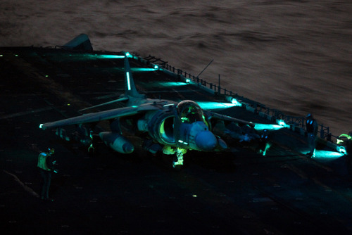 millitaryandweapons:  Marines conduct air strikes in support of Operation Odyssey Dawn by United States Marine Corps Official Page on Flickr.