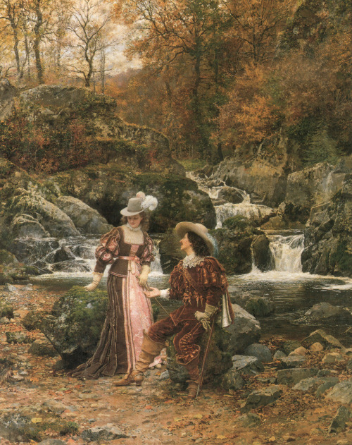 shakypigment:  Painting by MARIE-FRANÇOIS FIRMIN-GIRARD (French, 1838-1921)    I wonder what the name of this painting is?