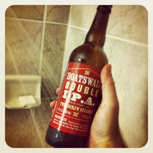 Traditional post-marathon shower beer! (Taken with instagram)