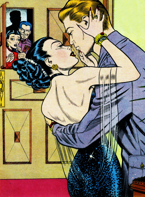 Flaming Love issue # 1, 1949 cover illustration by Bill Ward