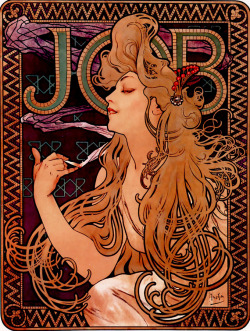 "skinks:   Alphonse Mucha - ""Job"" (1896)"