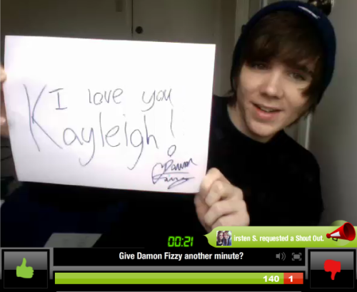 Kayleigh's sign from the YouNow :)