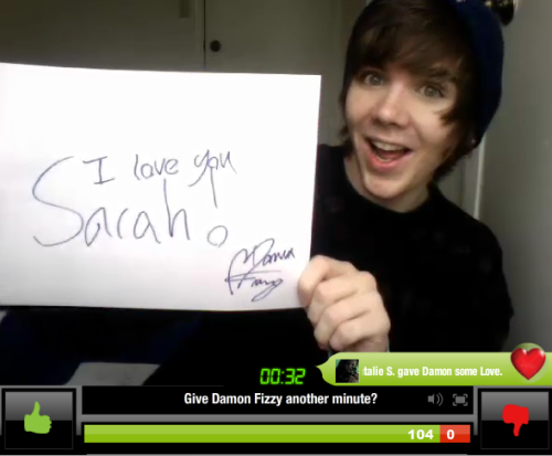 Sarah's sign from the YouNow :)