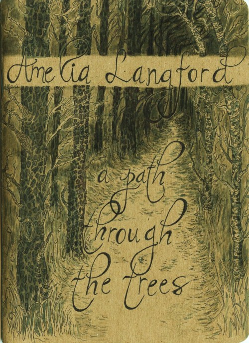 """Amelia Langford: A Path Through the Trees"" Sketchbook Cover The Sketchbook Project 2012 World Tour Ink and Watercolor 2012"