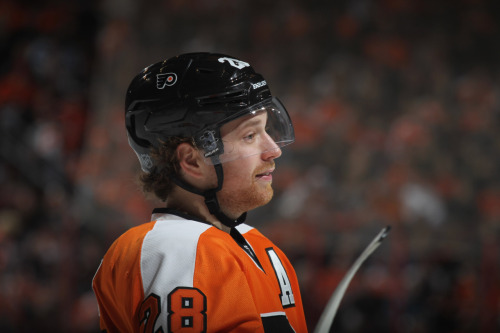 "Is Claude Giroux the Best Player in Hockey? He did it again on Sunday, and it's becoming a regular occurrence. Claude Giroux broke a 2-2 third period tie against the Devils with what The700Level describes as a ""rocket"" of a goal (watch the video here) just over four minutes in. Yes, Danny Briere was the real hero Sunday, but we digress. It was Giroux's seventh goal of the playoffs, which is tied for most in the league (with Briere). They always say you can't win the Stanley Cup without good goaltending, but you can win the cup when a guy playing at Giroux's level is playing is on your team. We asked you a few weeks ago about Giroux being the best athlete in Philly. It's likely that his performance the past few weeks may garner him a few more votes in that poll from Philly Magazine (his opponents are the Philadelphia Union's Freddy Adu, DeSean Jackson of the Eagles, Evan Turner of the Sixers and Hunter Pence of the Phillies). But it's time to think bigger than Philly. ESPN's Barry Melrose says that Giroux is the best player in all of hockey right now. As you'll recall, The Hockey News named Giroux the 3rd best player in the NHL back in March (behind Sidney Crosby and Detroit's Pavel Datsyuk) and in January, the Philadelphia Sports Writers Association (PSW) named Giroux their pro athlete of the year. We want you to weigh in: has he taken his game to a whole new level? Is he the best in the league? -LD [The 700 Level, PhillyMag, CSNPhilly, Philly.com] Photo: Getty Images"