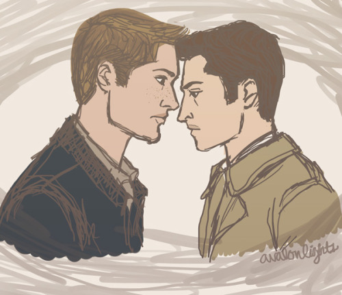 Sorry I haven't posted art in forever! Here is a Destiel scribble. I ship it like Fedex. xD
