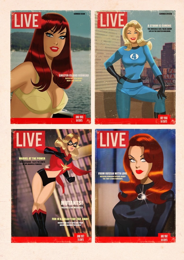 The Women of Marvel by Des Taylor
