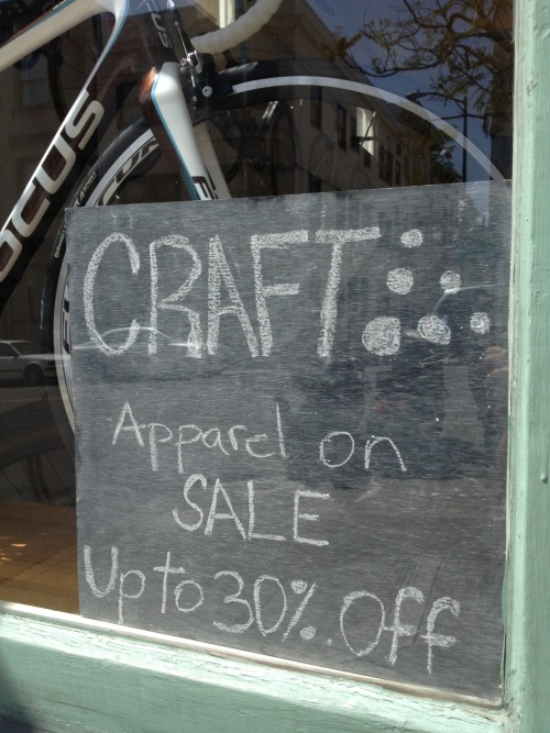 UPCOMING MAY SALE: CRAFT APPAREL (all in-stock items)