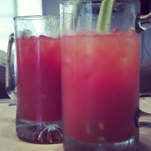 dionysix66:  Fighting the # hangover. #michiladas (Taken with instagram)