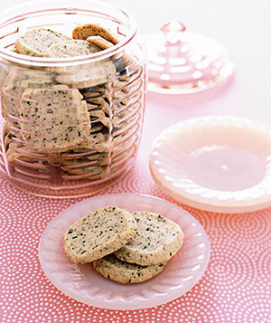 Earl Grey Shortbread Cookies  http://www.foodnetwork.com/recipes/claire-robinson/earl-grey-shortbread-cookies-recipe/index.html