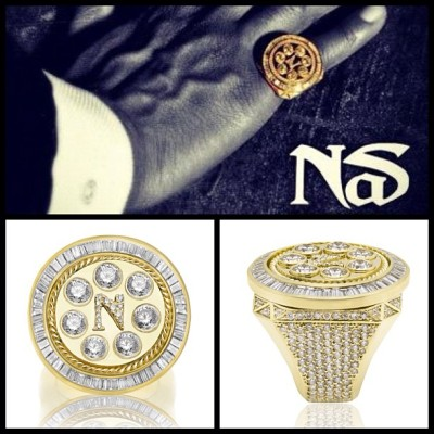 Nas yellow gold boss pinky ring #Splash