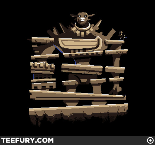 Donkey Colossus T-shirt available for $10 via TeeFury today only. Art by Michael Myers Jr. Which by the way is an amazing f-ing name.