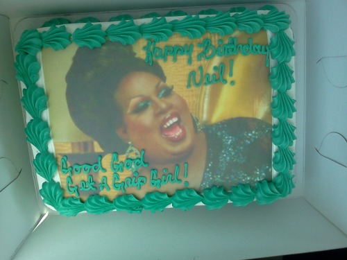 driftingashes:   AAAAAAAAAAHAHAHAHAH  the latrice royale cake we custom ordered for my uncle's 49th birthday today!