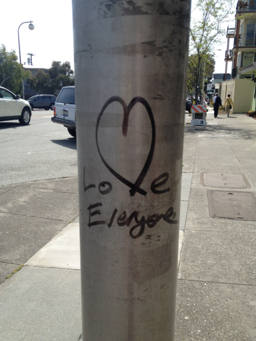 Love everyone. Solano Ave., Albany, CA. April 29, 2012.