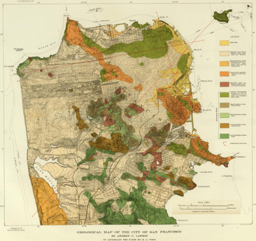 andrewsawyer:  hmmm where to live in san fran???? 1908 geological map of San Francisco