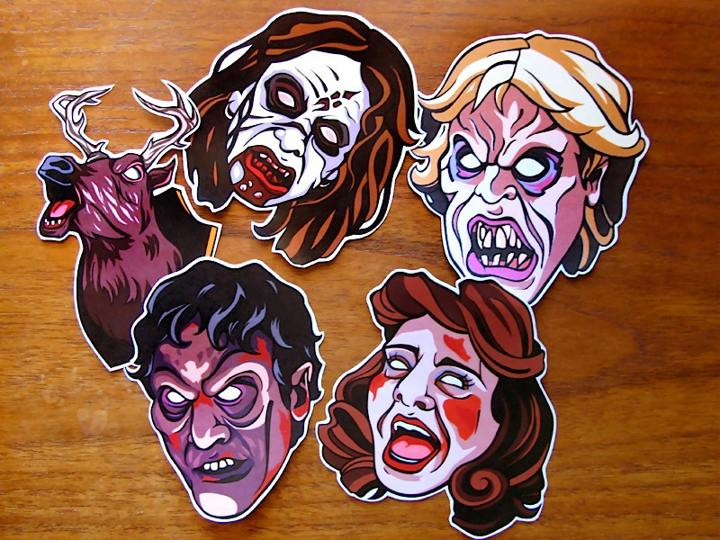 EVIL DEAD-ITE STICKER PACKS now on sale! So excited to be sharing these with you because they are my favourite stickers yet! Designed and hand-cut by me, each set comes with five recently awoken Candarian demons that will swallow your soul and fancy up any surface! Click through for the etsy listing or send me a message for other arrangements.
