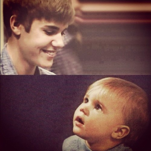 backintomyheart:  Our baby grew up so fast… :'( #justinbieber #kidrauhl (Taken with instagram)