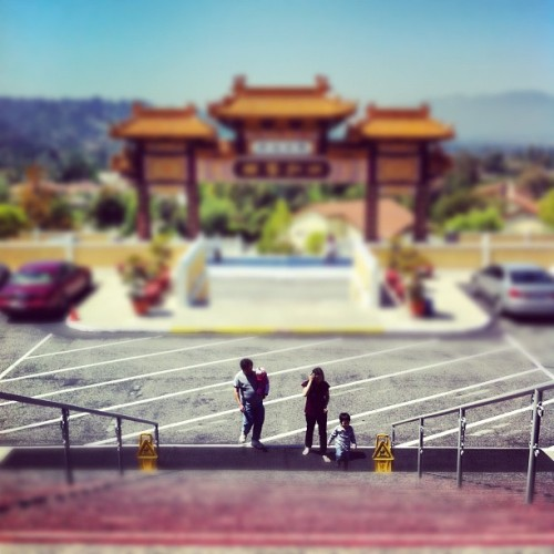 #hsilai #buddhist #temple #eddyizm #california #haciendaheights #tiltshift #iphone  (Taken with instagram)
