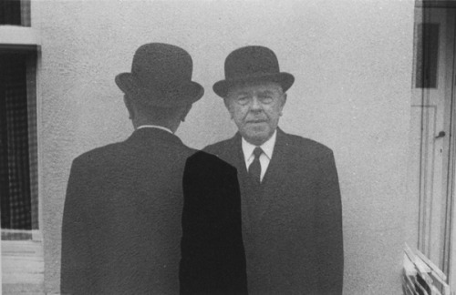 Duane Michals, Magritte Coming and Going, 1965