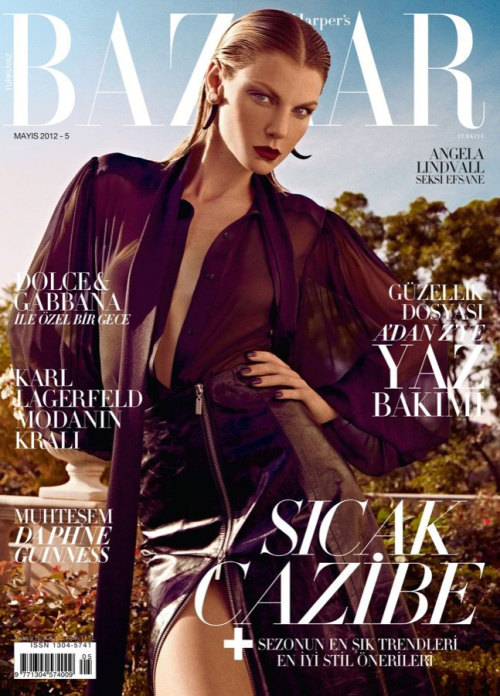 desperateneedofchanel:  Angela Lindvall by Koray Birand for Harper's Bazaar Turkey May 2012