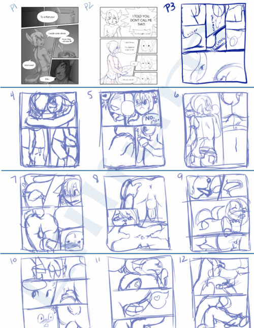 The first 12 pages planned out, mostly.