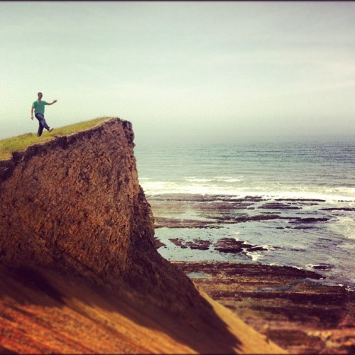 Taking A Leap  | #california #coast #marin #county #sanfrancisco #adventure #friends #instagood #iphone4 #iphoneography #igers #igers_sf #bestoftheday (Taken with Instagram at RCA Beach)