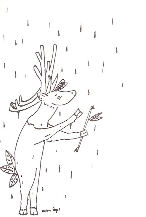 "For lampeduplighting, ""a reindeer doing a rain dance"""