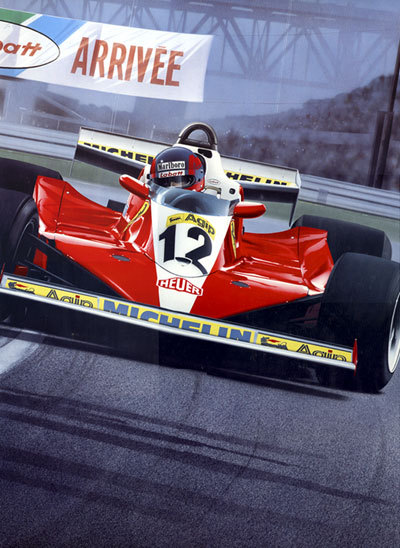 Born Legend by Gavin MacLeod. Gilles Villeneuve in the Ferrari 312T