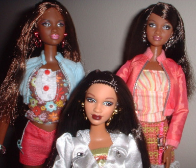 Mattel launched a new version of black barbie dolls with fuller lips, a wider nose and more pronounced cheek bones. The Barbie designer Stacy McBride-Irby wanted to create a line of dolls for young black girls who look like them… My question is what about the young black or hispanic girls who dont look like these barbie dolls? What do you tell them? what is your opinion on the issue?