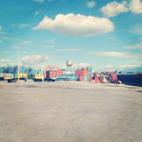 A day at the dock. #clouds #dock #pier #port #cargo (Taken with instagram)
