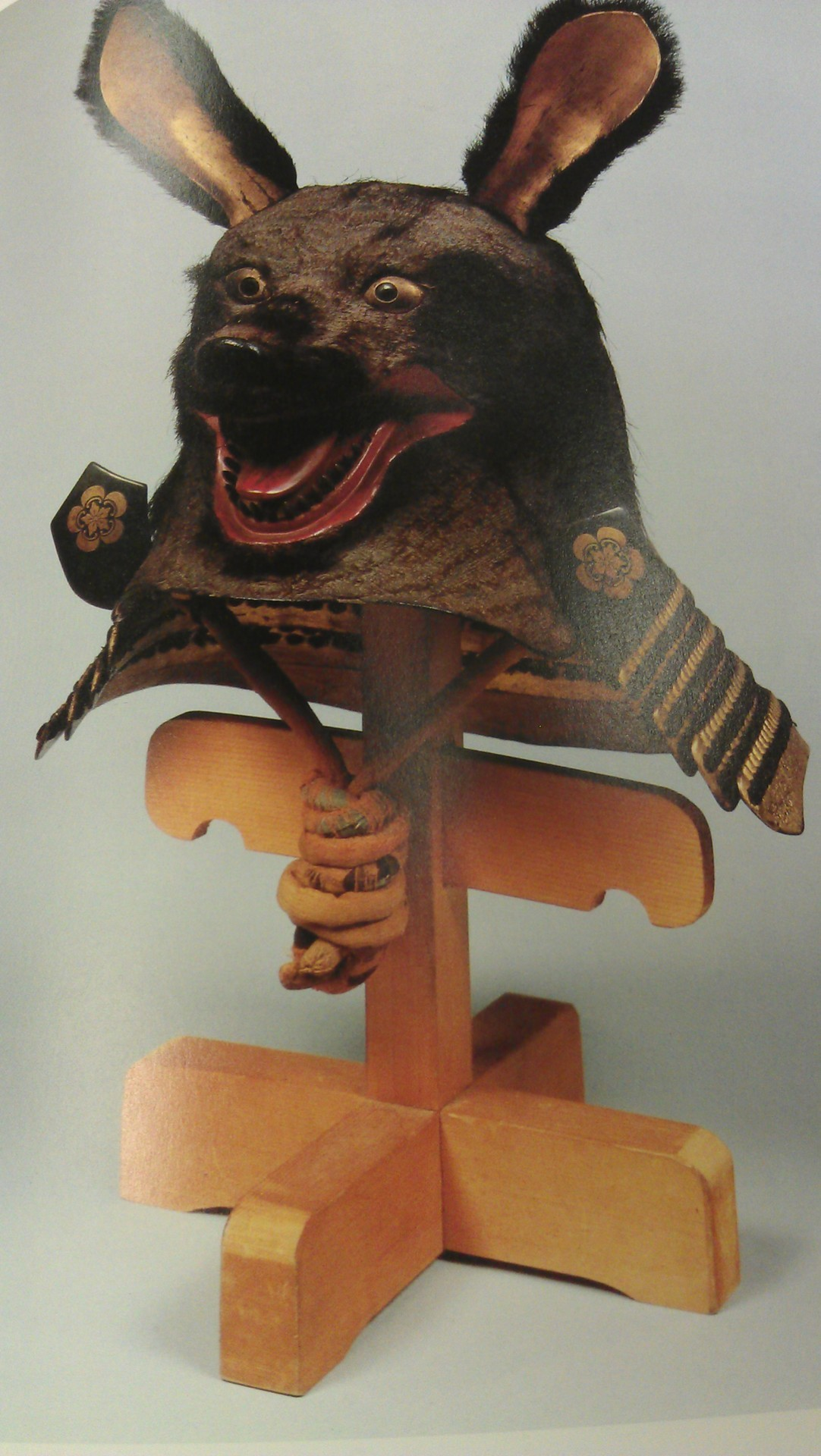 17th century, Edo period, A Japanese helmet, fashioned to resemble a bear. Book: Spectacular Helmets of Japan 16Th-19th Century