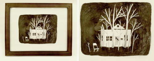 a drawing done for a book signing for 'House Held Up By Trees', which came out a few weeks ago. you can buy the book here, and prints from the book here.