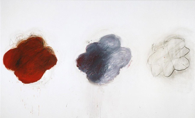"The art: Cy Twombly, Fifty Days at Ilium: Shades of Achilles, Patroclus, and Hector, 1978. The news: ""Mythic Passions, 'The Song of Achilles' by Madeline Miller,"" by Daniel Mendelsohn for The New York Times Book Review. Miller's book tells the story of ""The Iliad"" from the point-of-view of Patroclus. The source: Collection of the Philadelphia Museum of Art."